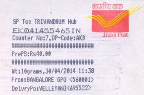 Speed Post Tracking - India Post Tracking Online